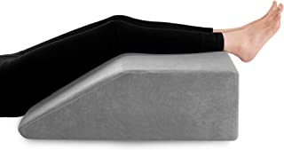Leg Elevation Pillow with Cooling Gel Memory Foam Top, Wedge Pillow for Back and Legs Support, to Solve Back& Leg &Joint P...