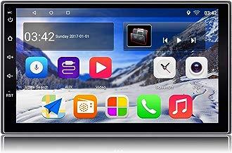 KX018 Android 7.1 Car Stereo GPS de navegación Auto Radio AM FM RDS 2 Din Head Unit 1 GB de RAM 16 GB ROM Mirror Link Steering Control BT Wi-Fi Audio Player Puerto USB Pantalla táctil de 7 pulgadas