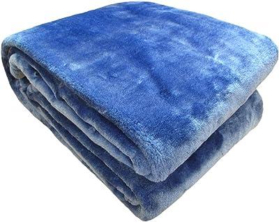 2枚合わせマイクロファイバー毛布 ダブル ロイヤルブルー IL83000-121
