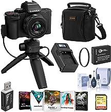 Panasonic Lumix DC-G100 Mirrorless Camera Black with 12-32mm Lens & Tripod/Grip - Bundle with 32GB SD Card, Bag, Extra Bat...
