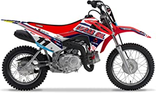 Enjoy MFG Graphics Number Plates are a Compatible Fit for the 2013-2016 Honda CRF 110 24MX / Lucas Oil