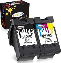 Incarler PG-540XL CL-541XL Remanufacturado Cartuchos de Tinta Compatible con Canon 540 541 para Canon Pixma MG4250 MG3250 MG3150 MG2150 MG2250 MX435 MX375 MX515 MX395 (1 Negro 1 Tri-Color)