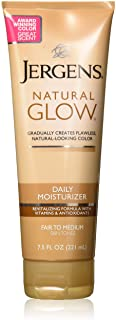 Jergens Natural Glow Daily Moisturizer Lotion Fair to Medium Skin Tones - 7.5 oz, Pack of 6