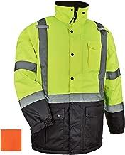 High Visibility Reflective Winter Safety Jacket, Insulated Parka, ANSI Compliant, Ergodyne GloWear 8384