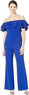 [マリーナ] レディース ジャンプスーツ Crepe Jumpsuit with Off Shoulder Ruffle [並行輸入品]