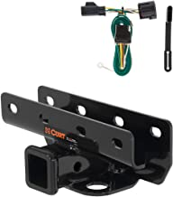 CURT 99317 Class 3 Trailer Hitch, 2-Inch Receiver, 4-Pin Wiring Harness Select Jeep Wrangler