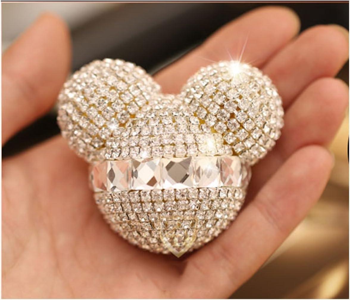 Ronshin Cute Mouse Sparkling Autoduft Lufterfrischer Halter Behälter Weiß 2er Set Weiß Drogerie Körperpflege