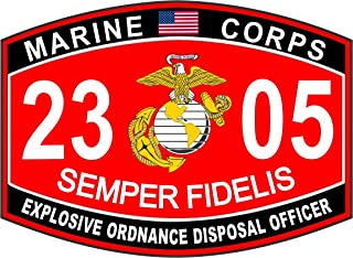 Magnet Marine Corps Military EOD Officer MOS 2305 USMC US Marine Corps Car Bumper Magnet Sticker Magnetic Vinyl Decal 3.8