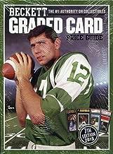 Sports Memorabilia Beckett Graded Card Price Guide 7th Edition 2015 Joe Namath NY Jets Cover - Football Card Accessories
