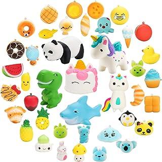 WATINC Kawaii Random 24 Pcs Squishy Jumbo Animal Unicorn Panda Random Mini Emoji Squishy Party Favors Cream Scented Cute Squishy Toy Stress Relief Toy Keychain Lovely Phone Straps