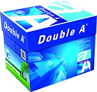 Double A - Printer Copy Paper, Size A4, GSM 80, 500 Pages Ream (Bundle of 5 Reams)