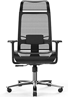 Bilkoh Mesh Office Chair Ergonomic Office Chair Computer Desk Chair, Mesh Seat and Back, Wide Headrest, Adjustable Lumbar Support and 3D Armrest (Black)