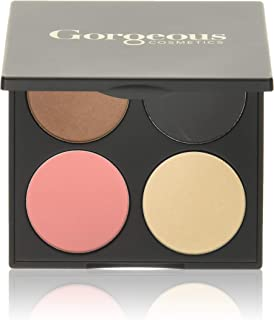 Gorgeous Cosmetics One Shade Fits All Palette, 4 shades, Compact with Mirror