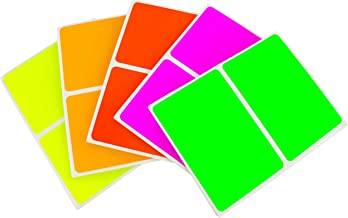ChromaLabel 2 x 3 Inch Colored Rectangle Name Tag Sticker Kit, Variety Pack, Fluorescent,150 Pack, Permanent, Matte Finish