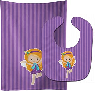 Caroline's Treasures Ginger Haired Fairy No. 2 Baby Bib & Burp Cloth, Multicolor, Large