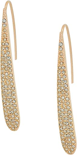 GUESS Pave Paddle Linear Earrings