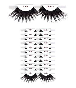 12 packs #301 Christina 100% Human Hair Fake Eyelashes