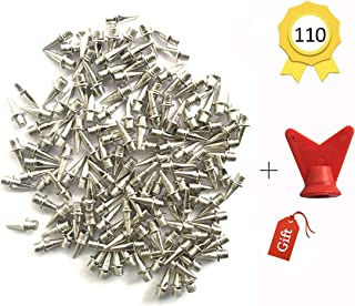 Augsun 110 Pieces 1/2 Inch Stainless Steel Track and Cross Country Spikes with Spike Wrench