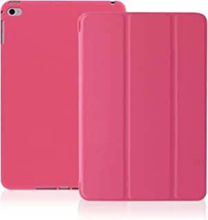 KHOMO iPad Air 2 Case - Dual Series - Ultra Slim Cover with Auto Sleep Wake Feature for Apple iPad Air 2nd Generation Tablet, Twill Pink (ip-air-2-dark-pink-2)
