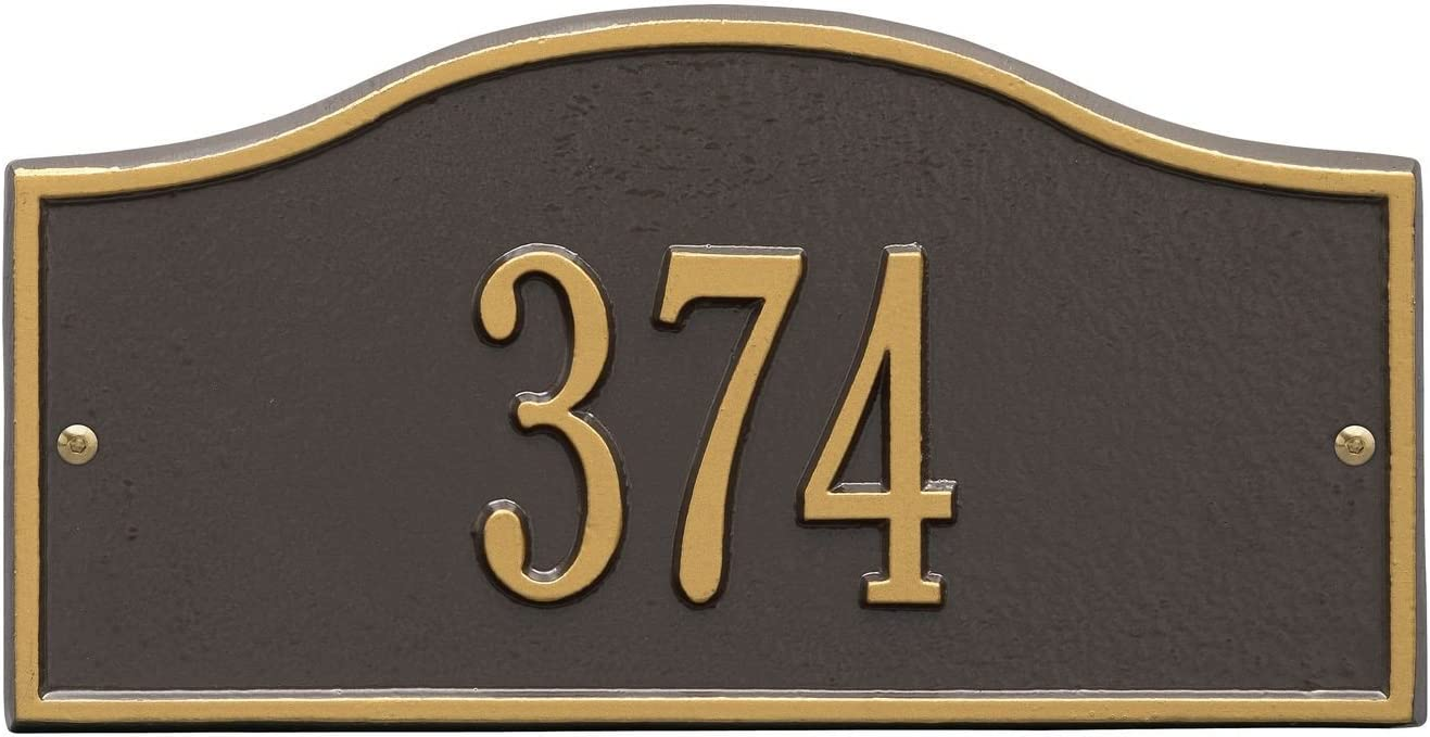 Brand Cheap Sale Venue Whitehall Personalized Cast Metal Address - Oklahoma City Mall Plaque Rolling Small