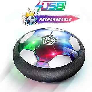 WisToyz اسباب بازی های کودکان و نوجوانان شناور توپ فوتبال قابل شارژ هوا فوتبال، فوتبال توپ فوتبال داخل شناور با چراغ نور و کفپوش کفگیر، قاتل کامل زمان برای پسران، دختران، کودک نو پا (بدون باتری های AA مورد نیاز)