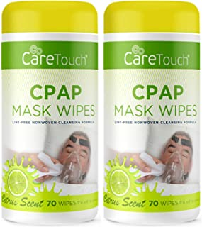Care Touch CPAP Cleaning Mask Wipes - Citrus Scent Lint Free - 70 Wipes Pack of 2 - 140 Wipes Total