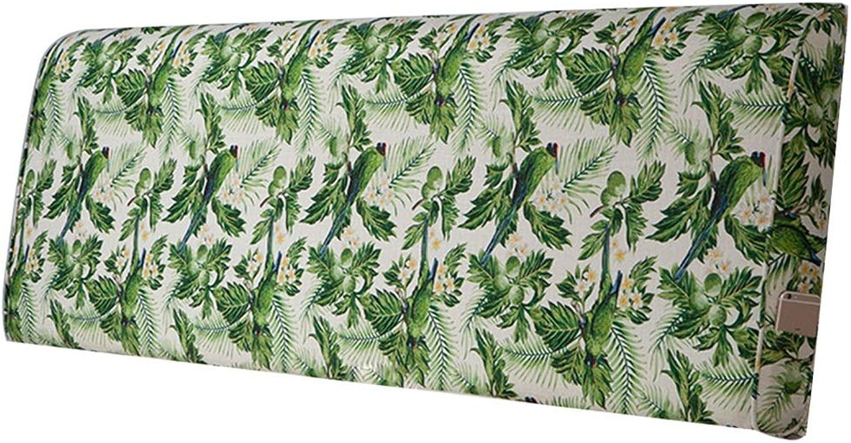 WENZHE Upholstered Headboard Pillow Bedside Cushion Wedges Backrest Waist Pad Cloth Soft Case Home Hotel Backrest Waist Belt Washable, 4 colors, 2 Styles (color   B, Size   90x60cm)