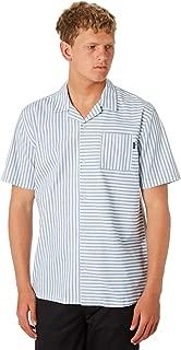 No News Men's Laze Mens Shirt Short Sleeve Cotton Blue