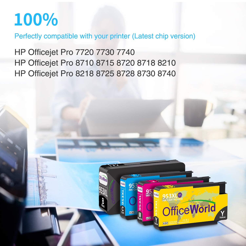 OfficeWorld 953XL Remanufacturado Reemplazo para HP 953XL ...