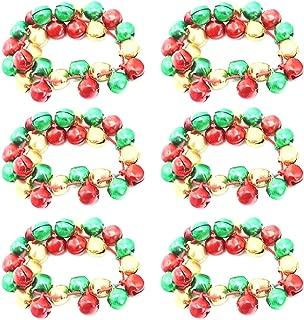 6 Piezas Pulsera De Navidad Moda Campana Pulsera De Fiesta Brazalete De Vacaciones para Niños