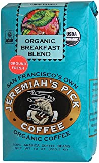 Organic Breakfast Blend - Ground Coffee for Drip - 10oz, Caffeinated