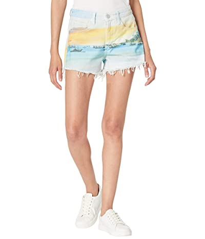 Blank NYC Photo Print Denim Shorts in Lost in Paradise