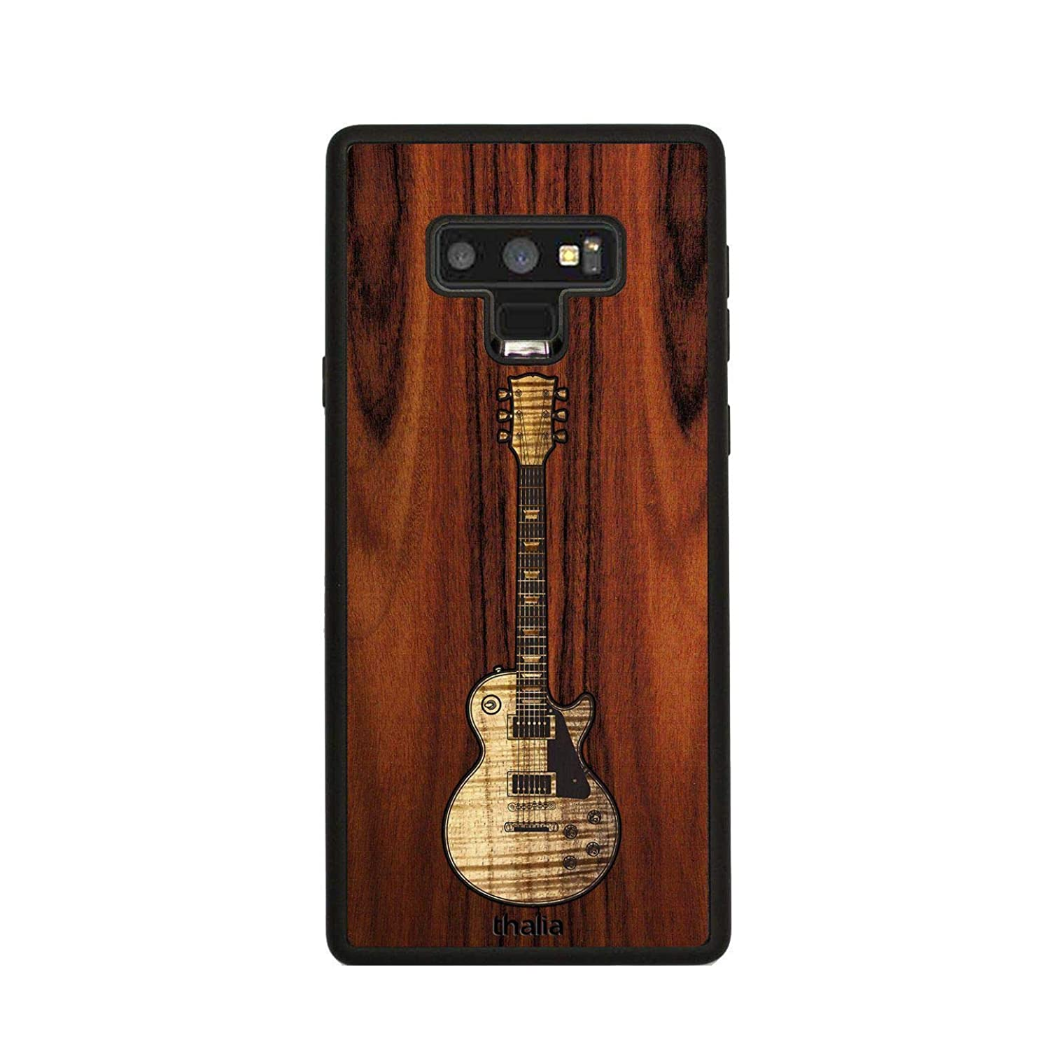 Santos Rosewood & Les Paul Hawaiian Koa Inlaid Guitar Phone Case | Thalia Exotic Wood Cases Samsung Galaxy Note 9