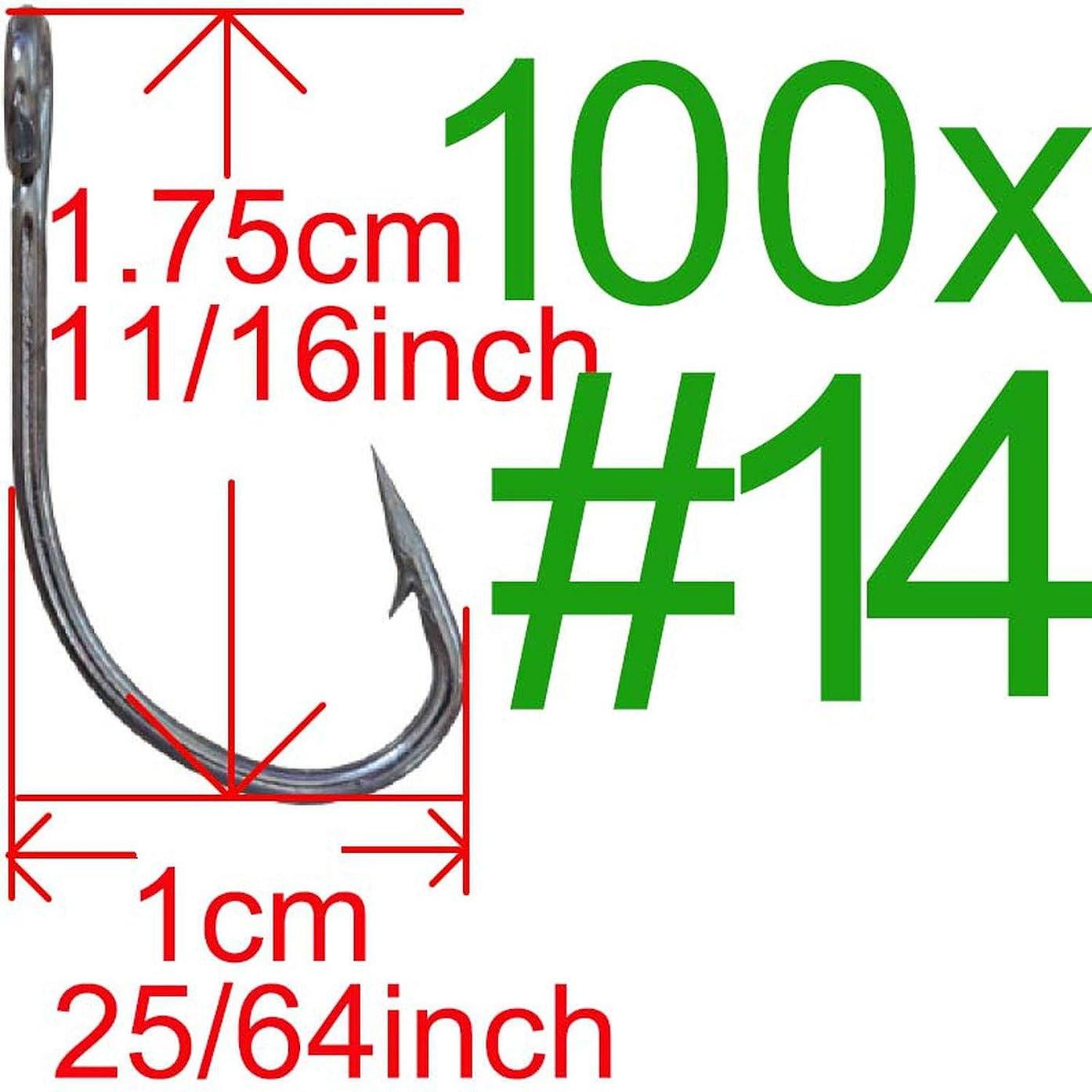 Fly-Town 20pcs / 50pcs / 100pcs Big Hole Fishing Hook Crank Hook Barbed Fishhook Fishing Tackle Fish Hook Single Hook