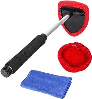 JZK Płyn do czyszczenia szyb wewnętrznych, teleskopowy przyrząd do czyszczenia przedniej szyby, z regulowanym uchwytem i g...