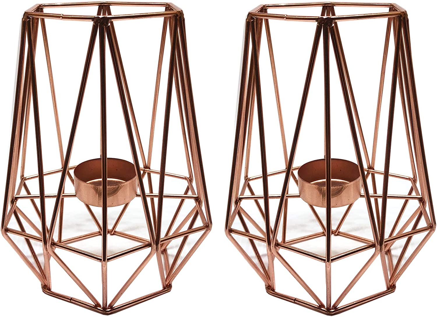 Rose Gold Geometric Candle Metal Decor All Phoenix Mall stores are sold Candlestick Holder