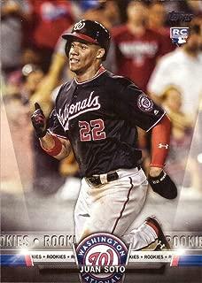 2018 Topps Update Salute Baseball #S-29 Juan Soto Rookie Card
