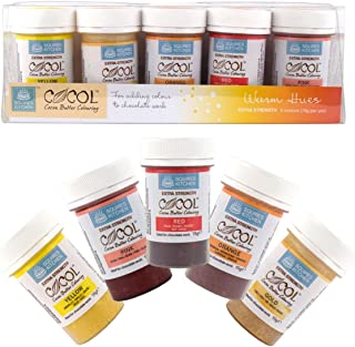Squires Kitchen Cocoa Butter Colouring - Warm Hues Set