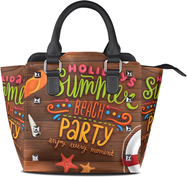 My Little Nest Women's Top Handle Satchel Handbag Holidays Summer Beach Party Ladies PU Leather Shoulder Bag Crossbody Bag