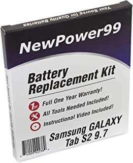 NewPower99 Battery Kit with Battery, Video and Tools for Samsung Galaxy Tab S2 9.7 SM-T810, SM-T813, SM-T815, SM-T817, SM-T818, SM-T819