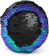 Little Monkey The Original Fidget - Blue, Green & Black Circle Sequin Pillow Fidget Toy for Sensory Therapy to Relieve Stress and Increase Focus for Adults and Kids. Helps with ADHD ADD Autism 3C
