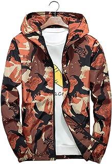 Leapparel ウィンドブレーカー メンズ ジャケット マウンテンパーカー サイドライン ペンキアート迷彩 秋服 防風 防寒 通勤 おしゃれ 男女兼用 4色