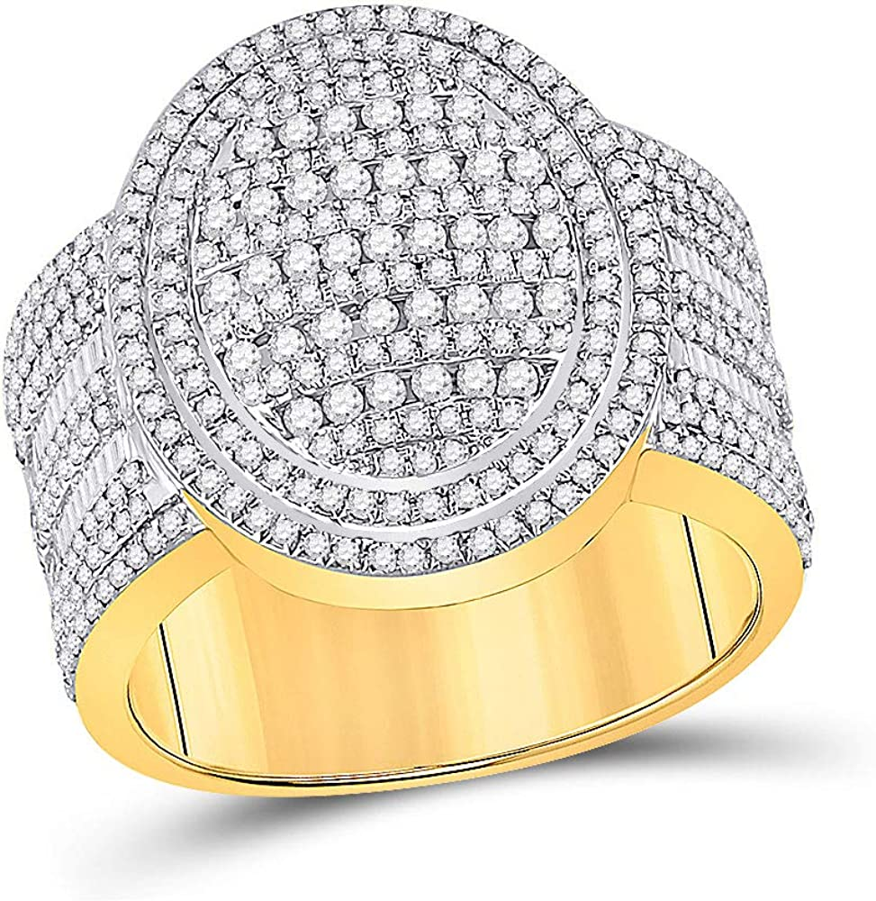 Dazzlingrock Collection 10kt Yellow Max OFFer 59% OFF Gold Mens Diamond Baguette O