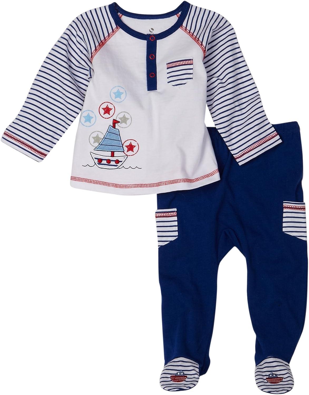 Absorba Newborn Baby Boys' 2 Piece Footed Pant Set