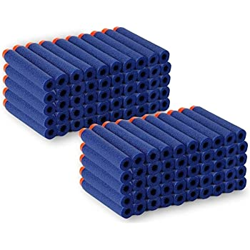 SYGA Plastic Foam Toy Bullet Dart Bullets for Nerf N-Strike Elite Guns, 50-Pieces, Blue