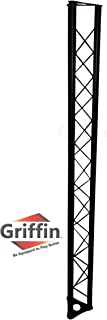 Triangle Truss Segment Extension by Griffin | 5Ft Extra Trussing Section for DJ Lighting System Stand | Mount Light Cans & Sound Effects for Pro Audio Equipment Gear | Parties, Live Gigs & Stage