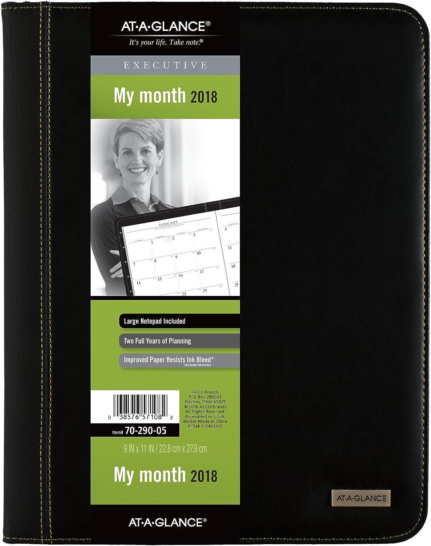 Einen Blick Monatliche Padfolio, Januar 2018 – Januar 2019, 22,9 x 27,9 cm Executive, schwarz (7029005) B071D9C1K9   Bestellungen Sind Willkommen