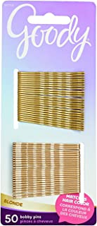 Goody Colour Collection Metallic Finish Bobby Pin, Blonde, 50 Count (4-Pack)