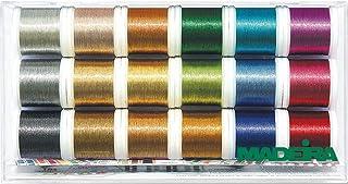 Madeira Clear Box: Metallic: Smooth: 18 x 200m: Spools, Multicolour
