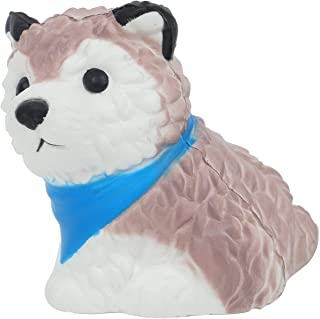 Vigeiya Squishies Dog Slow Rising Jumbo Squishy Toy Prime Kawaii Animal with Scarf (Blue)